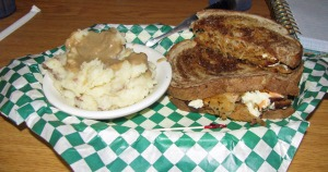 Classic Reuben and Mashed Potatoes with Gravy