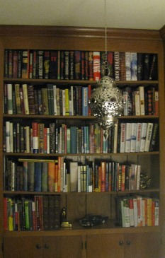 One of my bookshelves.  Can you tell I like to read?