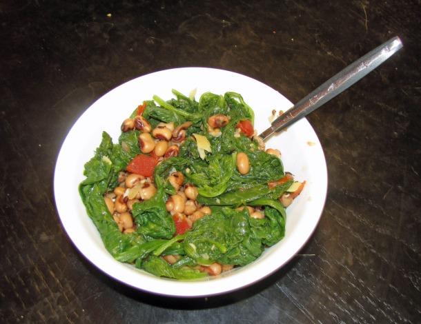 punjabi greens and beans