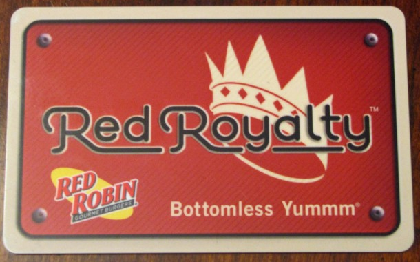 red royalty card