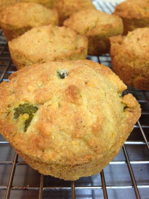 Gluten-free Jalapeno Cheddar Cornbread Muffins