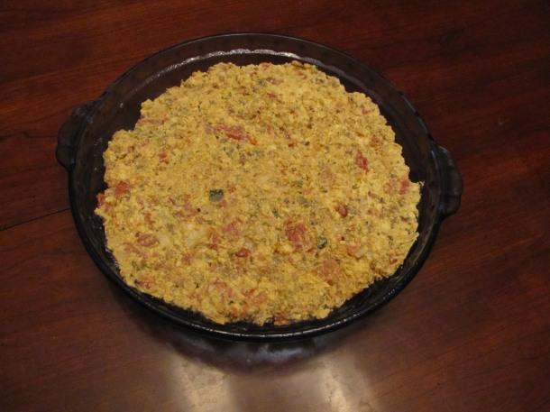 Sausage Fritatta Before Baking