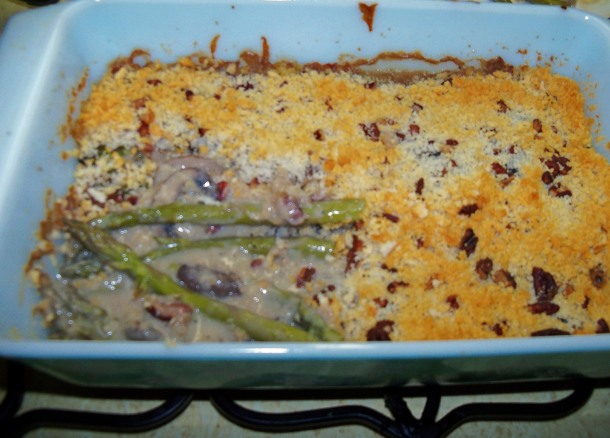 Asparagus casserole ... a family tradition.