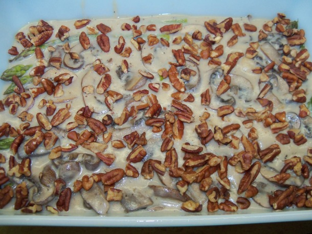 pour and add pecans
