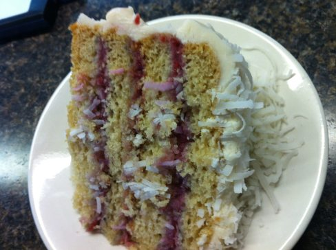 Raspberry Zinger Layer Cake