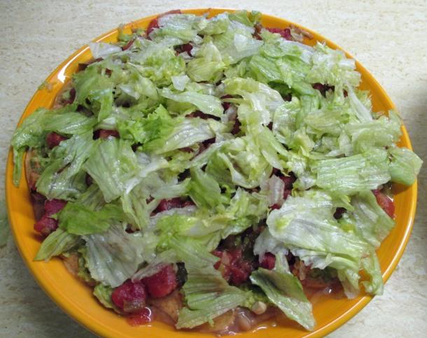 Vegan Layered Bean Dip Step 5