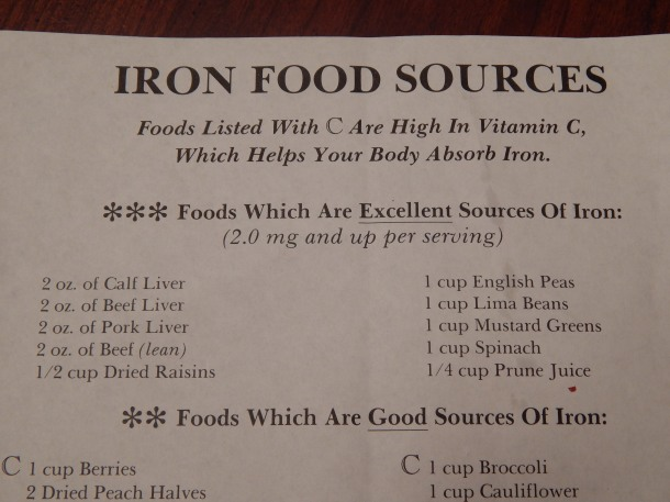 Iron Food Sources 1