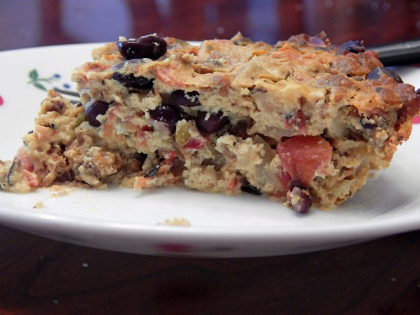Vegan Southwestern Quiche With Black Beans and Chorizo