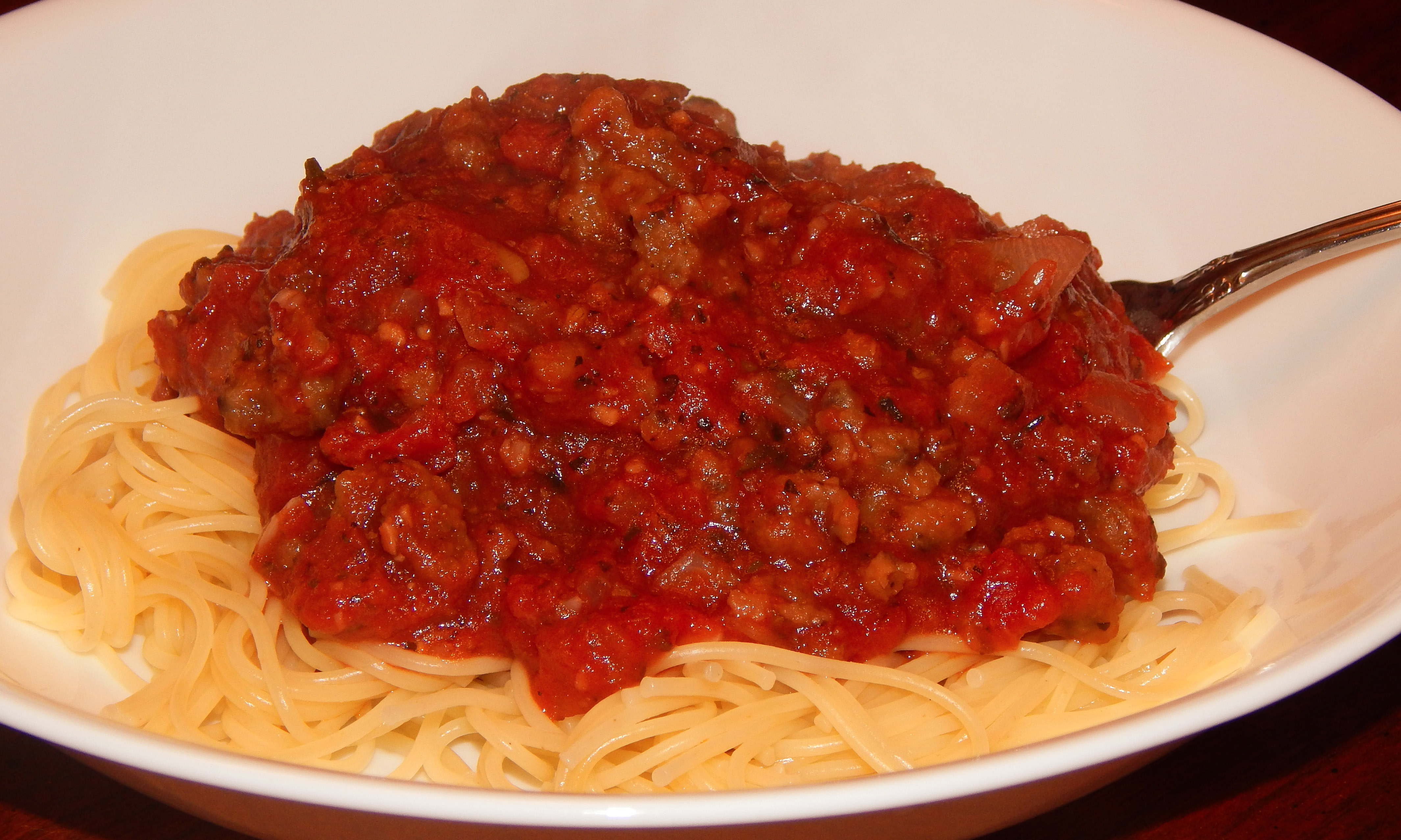 Spaghetti With Little Hot Dogs Recipe