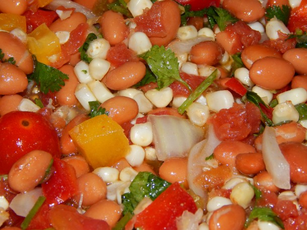 Pinto Bean Salad Close Up