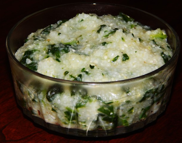 Green Grits Ingredients (Makes Two Large Servings, Or Four Small):