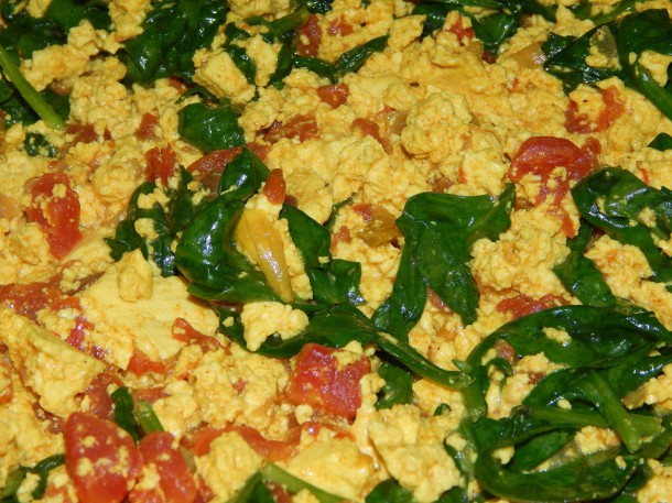 Indian Inspired Tofu Scramble Close Up
