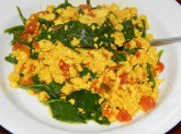 Indian Inspired Tofu Scramble