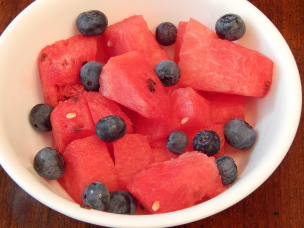 Watermelon with Blueberries