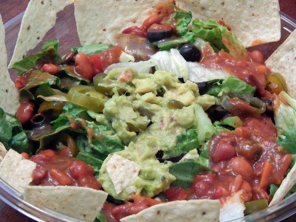 McAlister's Deli Taco Salad with Veggie Chili, sans sour cream and ...