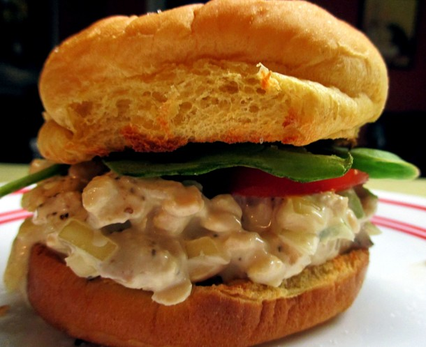 Tempeh Chicken Salad Sandwich