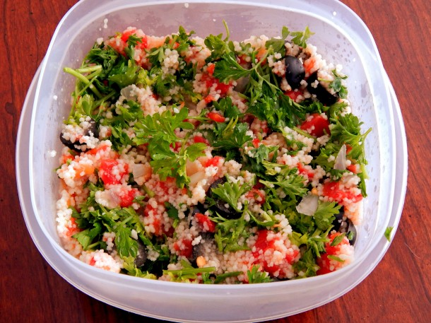 Couscous and tomatoes