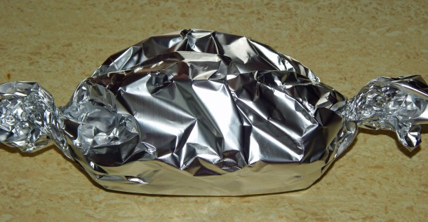 Tempeh Tuna Salad Wrapped In Foil