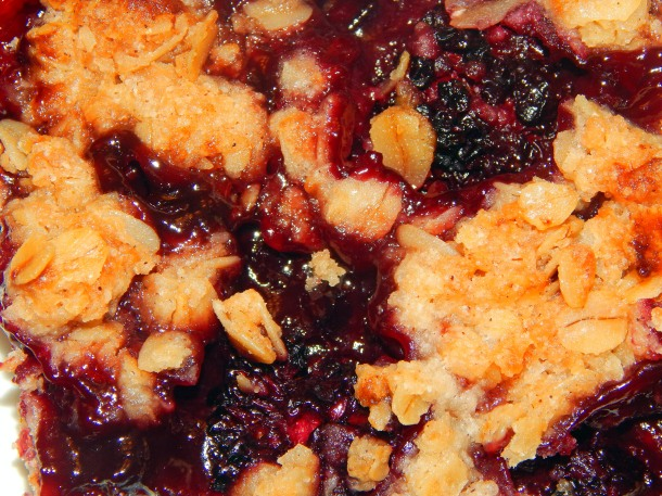 Blackberry Crumble Close Up