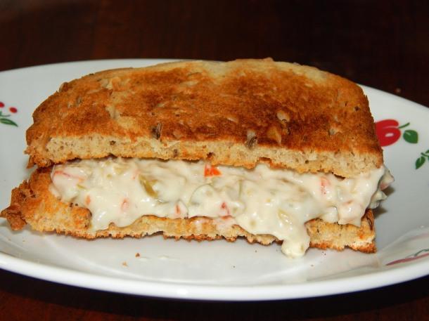 Olive Cream Cheese Sandwich