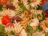 Cold Pasta Puttanesca Close Up