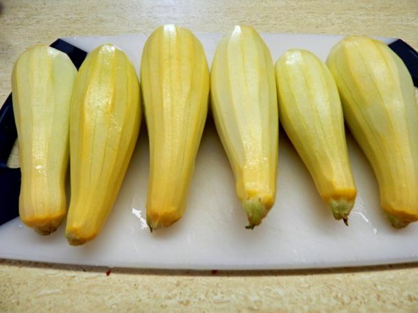 Peeled Yellow Squash