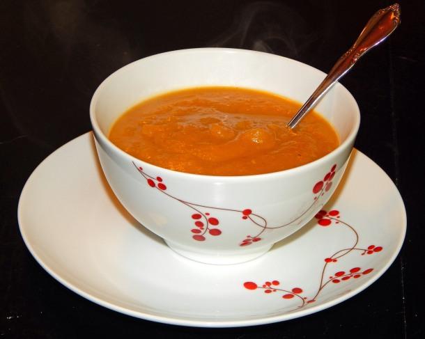 Apple Butternut Squash Soup In Bowl