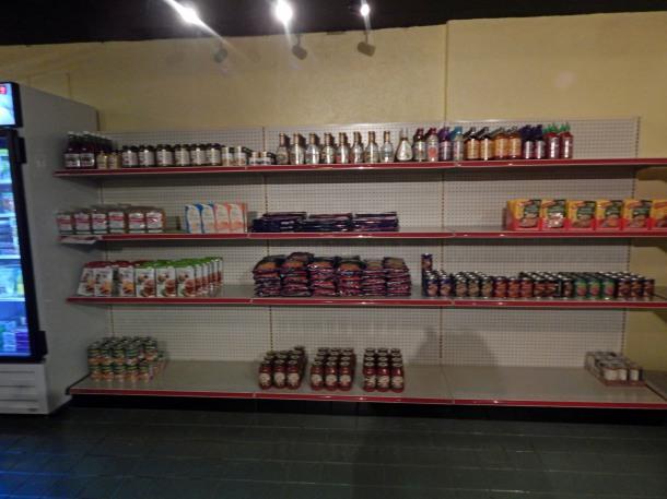 bean market stocking shelves