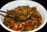 Black eyed peas and collard greens stew