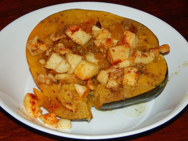 acorn squash on plate