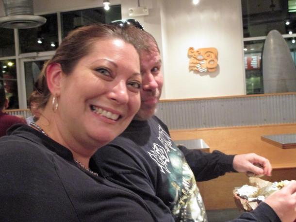 Carl and Jennifer at Chipotle