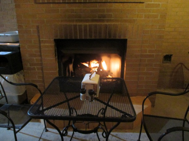 fireplace at Bay Naturals