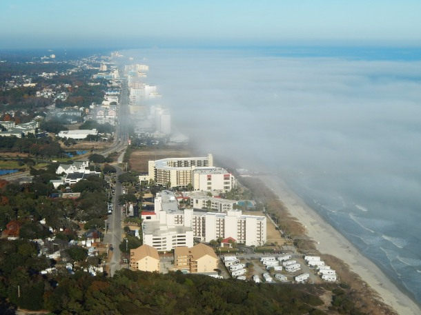Myrtle Beach from Helicopter