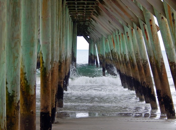 Underside of pier at Myrtle Beach