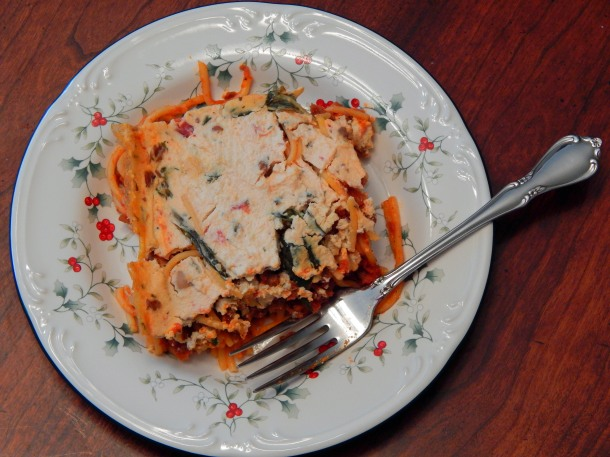 Baked Spaghetti Vegan Plate
