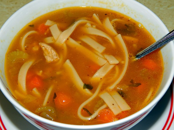 Chicken Noodle Soup Close Up 2