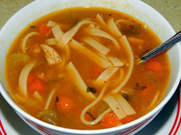 Chicken Noodle Soup Close Up 2
