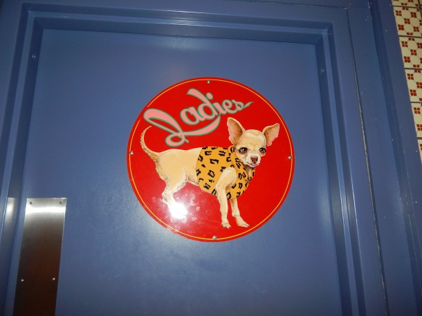 Chuys Ladies Room Door