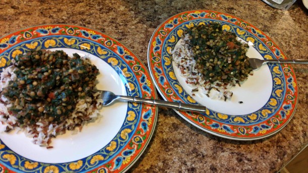 Leafy Lentils Plated