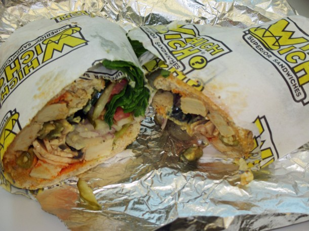 Which Wich Vegan Chicken Sandwich, made with Beyond Meat