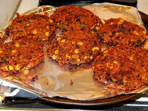 Cooked Vegan Gluten Free Black Bean Burgers