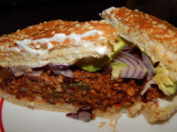 Vegan Gluten Free Black Bean Veggie Burger