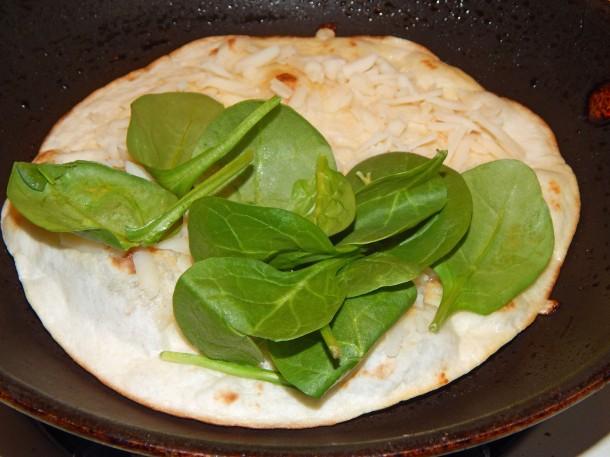 vegan-quesadilla-add-spinach