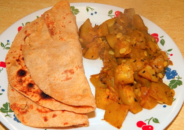 Bottle Gourd With Roti