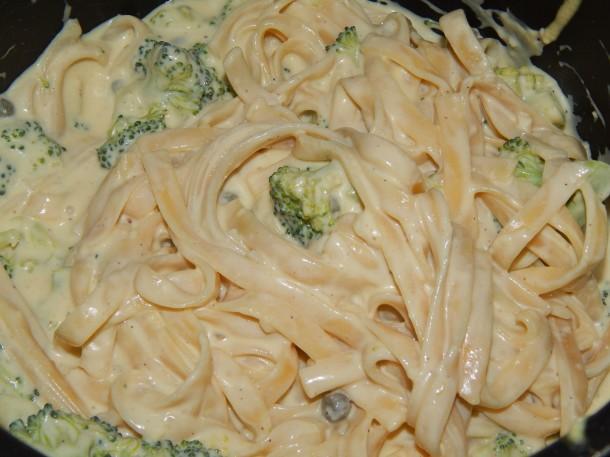 Broccoli Fettucine In Pot