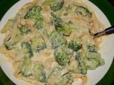 Fettucine Alfredo with Broccoli and Capers