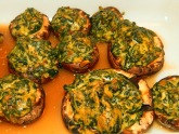 Baked Stuffed Curried Mushrooms Cropped