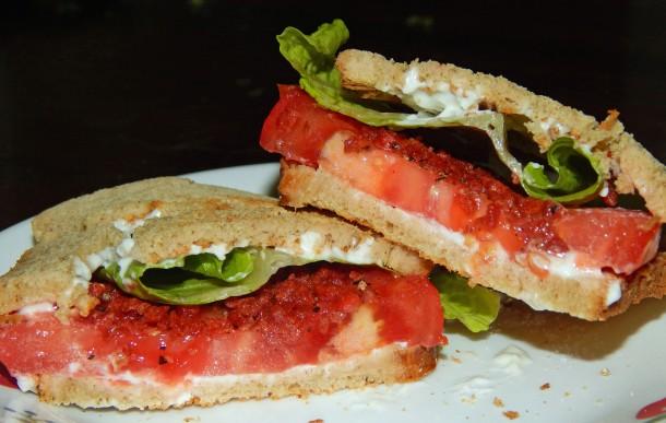 Southern Tomato Sandwich Vegan