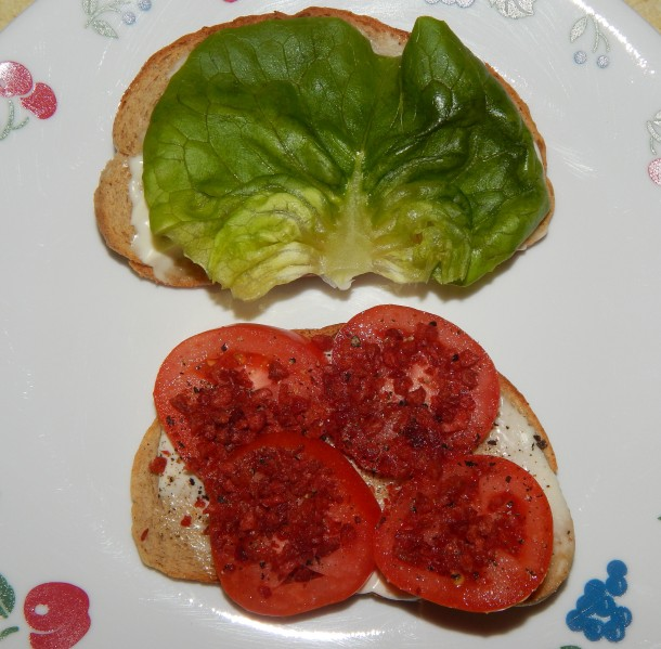 Southern Tomato Sandwich In The Making - Vegan
