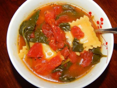 Ravioli Soup